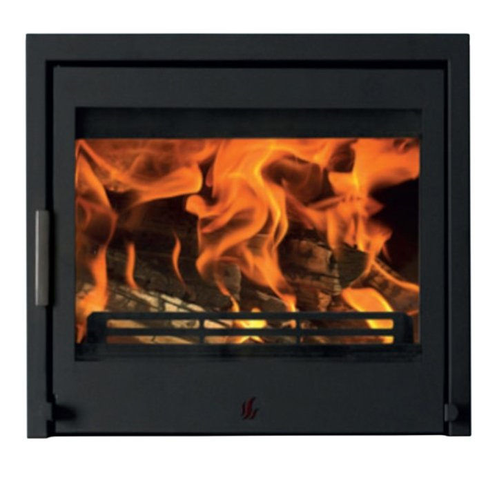 ACR Tenbury T550 Multifuel Cassette Fire - Frontal Black Three Sided Frame - Black