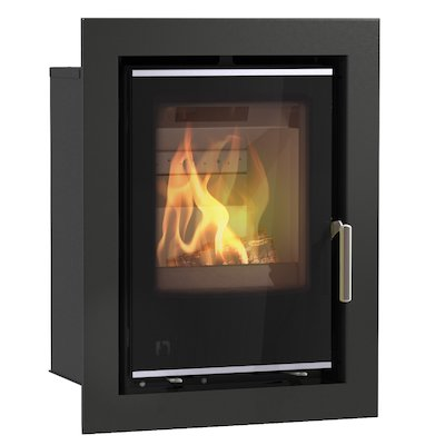 Arada I400 Multifuel Cassette Fire - Frontal Black Glass Four Sided Frame
