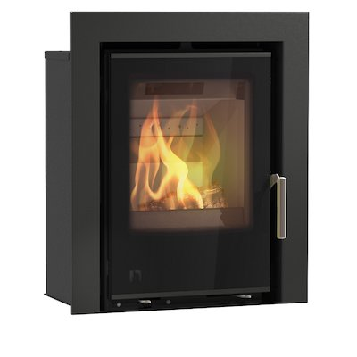 Arada I400 Multifuel Cassette Fire - Frontal Black Glass Three Sided Frame