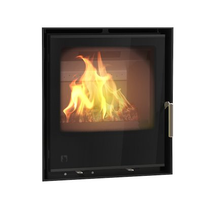 Arada I500 Multifuel Cassette Fire - Frontal Black Glass Frameless/Edge