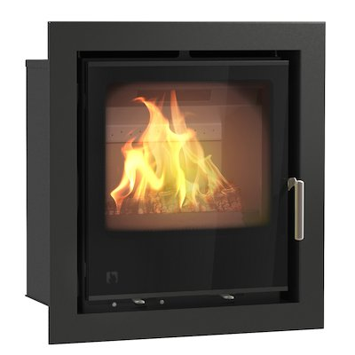 Arada I500 Multifuel Cassette Fire - Frontal Black Glass Four Sided Frame