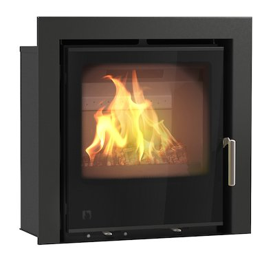 Arada I500 Multifuel Cassette Fire - Frontal Black Glass Three Sided Frame