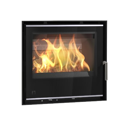Arada I600 Multifuel Cassette Fire - Frontal Black Glass Frameless/Edge