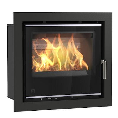 Arada I600 Multifuel Cassette Fire - Frontal Black Glass Four Sided Frame