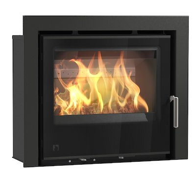 Arada I600 Multifuel Cassette Fire - Frontal Black Glass Three Sided Frame