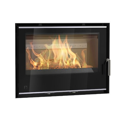 Arada I750 Multifuel Cassette Fire - Frontal Black Glass Frameless/Edge