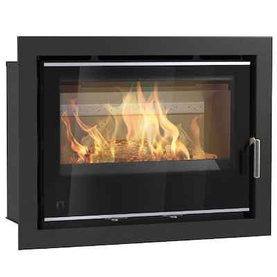 Arada I750 Multifuel Cassette Fire - Frontal Black Glass Four Sided Frame