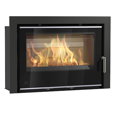 Arada I750 Multifuel Cassette Fire - Frontal Black Glass Three Sided Frame