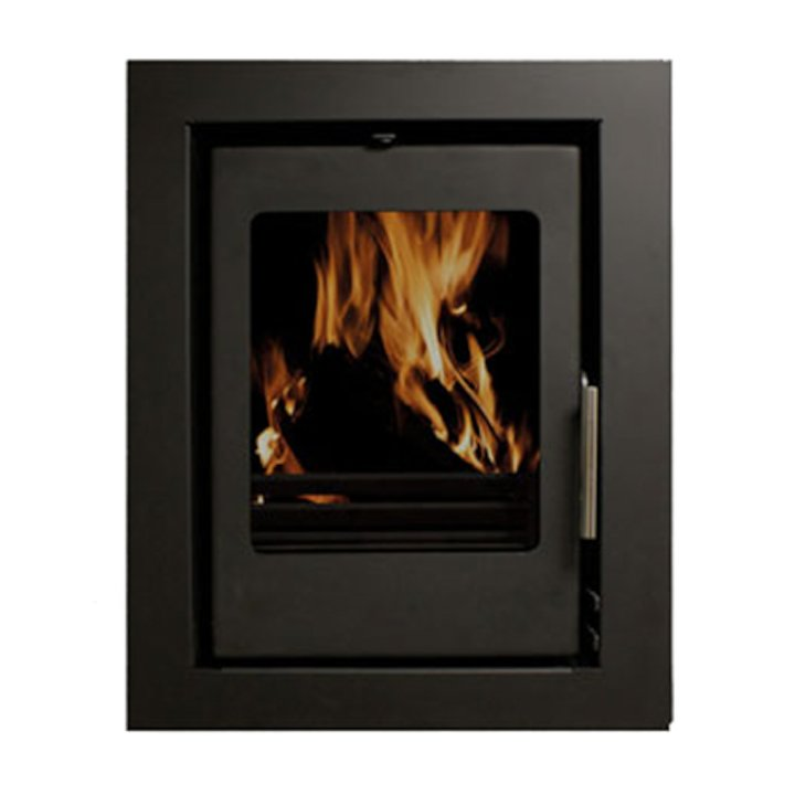 Beltane Holford 6 Multifuel Cassette Stove Black Four Sided Frame - Black