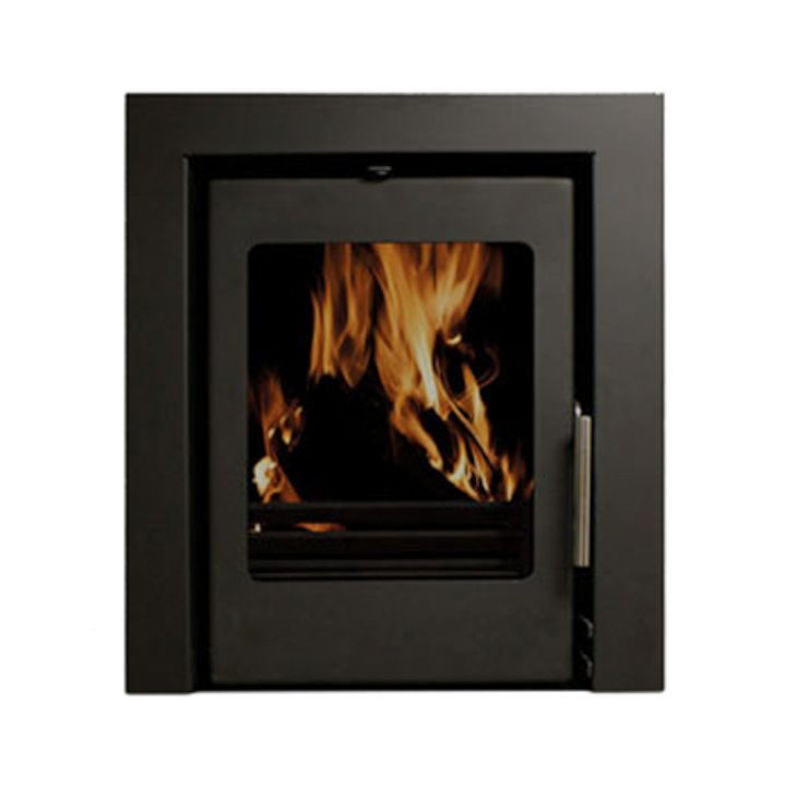 Beltane Holford 6 Multifuel Cassette Stove Black Three Sided Frame - Black