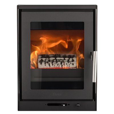 Heta Inspire 40i Multifuel Cassette Fire - Frontal Black Frameless/Edge