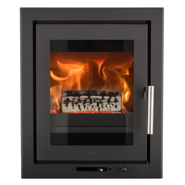 Heta Inspire 40i Multifuel Cassette Fire - Frontal Black Three Sided Convector Frame - Black