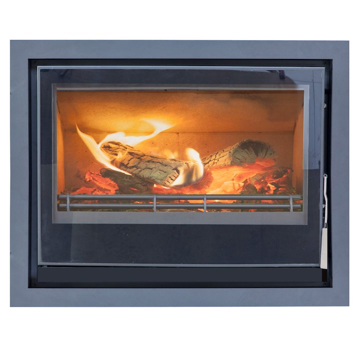 Mendip Christon 750 Multifuel Cassete Fire Black Four Sided Frame - Black