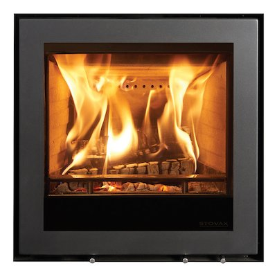 Stovax Elise 540 Multifuel Cassette Fire - Frontal Black Frameless/Edge
