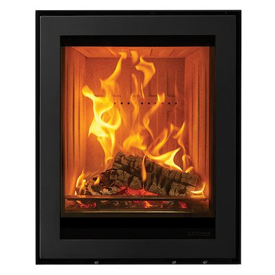 Stovax Elise 540 Tall Multifuel Cassette Fire Black Frameless/Edge