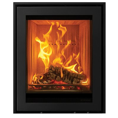 Stovax Elise 540 Tall Multifuel Cassette Fire Black Three Sided Edge+ Frame