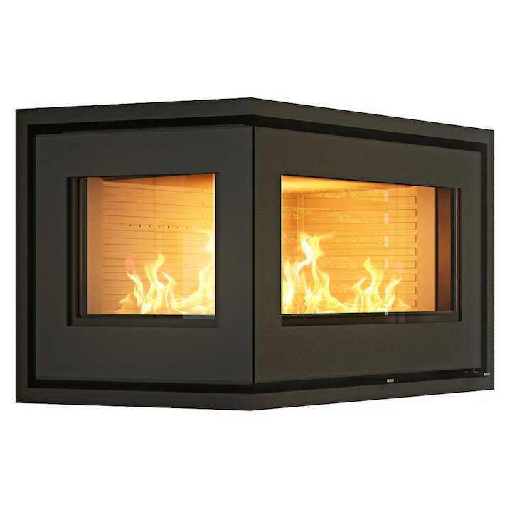 Rais 500/2 Wood Cassette Fire - Corner Black Left Side Glass - Black