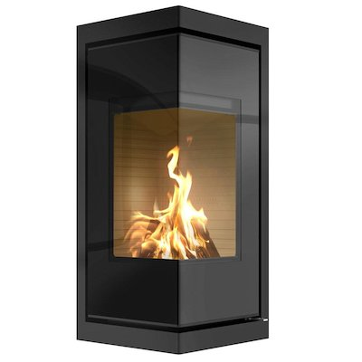 Rais Q-BE Wood Cassette Fire - Corner