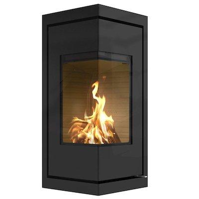 Rais Q-BE Wood Cassette Fire - Corner