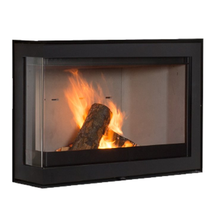 Wanders S75 Wood Cassette Fire - Corner Black Left Side Glass - Black