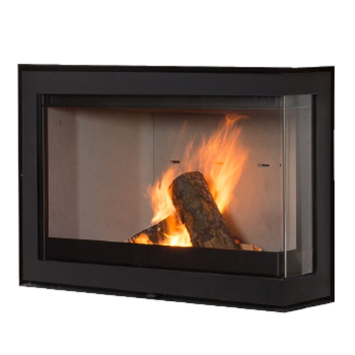 Wanders S75 Wood Cassette Fire - Corner Black Right Side Glass - Black