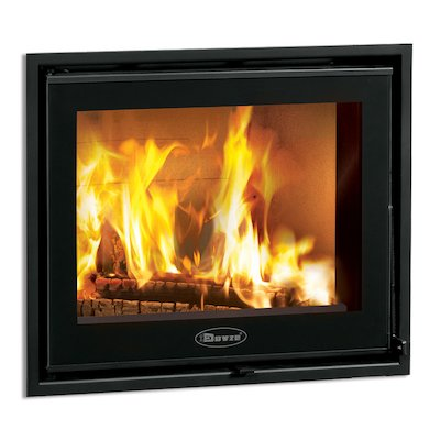 Dovre Zen 100 Built-In Wood Fire - Frontal