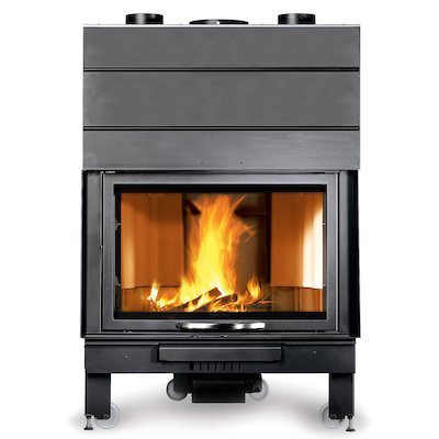 La Noridca Monoblocco Piano 900 Built-In Wood Fire - Frontal