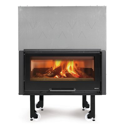 La Noridca Monoblocco Crystal 1000 Built-In Wood Fire - Frontal