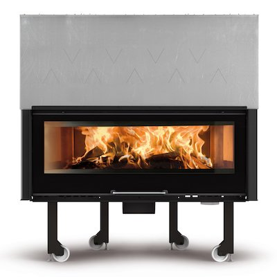 La Noridca Monoblocco Crystal 1300 Built-In Wood Fire - Frontal