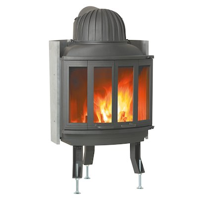 Nordpeis Ni25 Built-In Wood Fire - Frontal