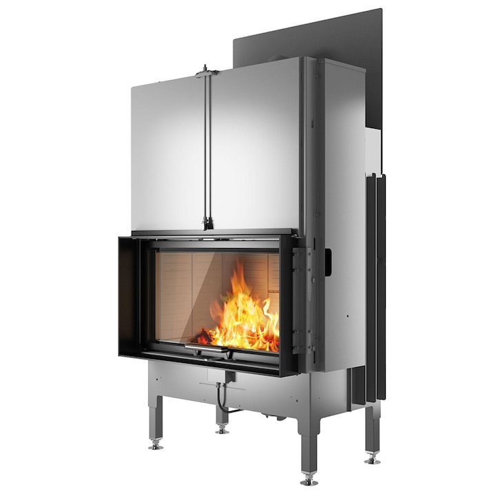 Rais Visio 1 Built-In Wood Fire - Frontal Black Finishing Frame - Black