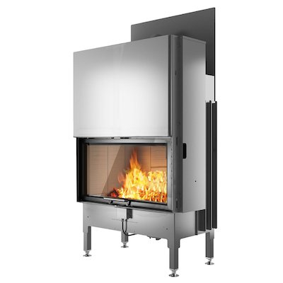Rais Visio 1 Built-In Wood Fire - Frontal Black No Frame