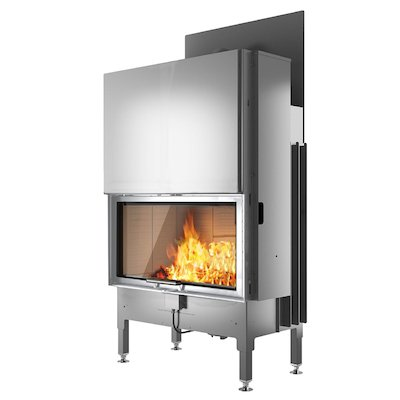 Rais Visio 1 Built-In Wood Fire - Frontal Stainless Steel No Frame