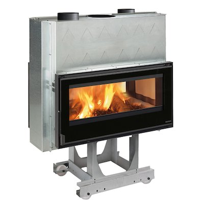 La Nordica Focolare Crystal 100 Bifacciale Built-In Wood Fire - Tunnel
