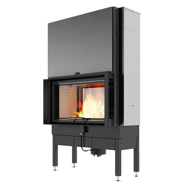 Rais Visio 2:1 Built-In Wood Fire - Tunnel Black Finishing Frame - Black