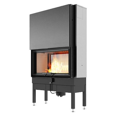 Rais Visio 2:1 Built-In Wood Fire - Tunnel Black No Frame