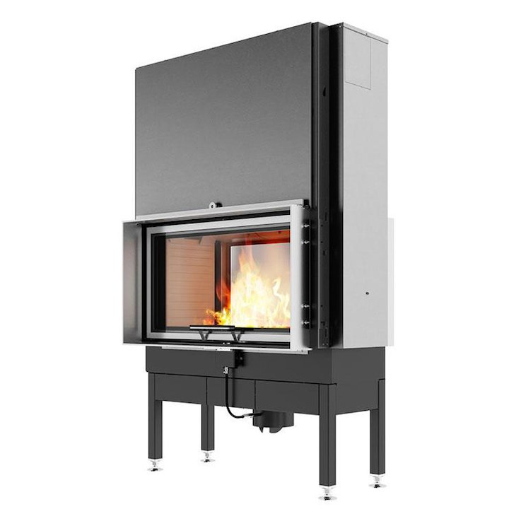 Rais Visio 2:1 Built-In Wood Fire - Tunnel Stainless Steel Finishing Frame - Stainless Steel