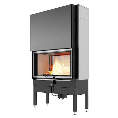 Rais Visio 2:1 Built-In Wood Fire - Tunnel Stainless Steel No Frame