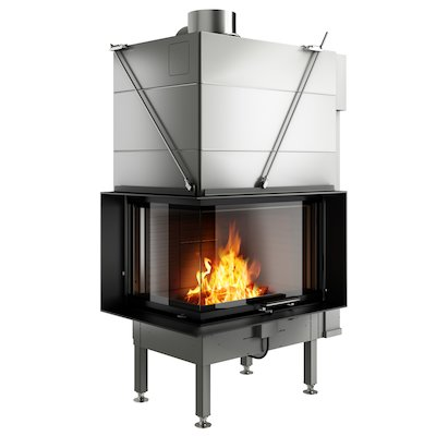 Rais Visio 2 Built-In Wood Fire - Corner