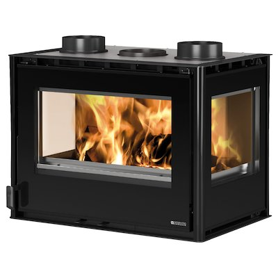 La Nordica Crystal 70 Wood Cassette Fire - Three Sided