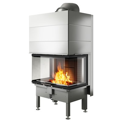 Rais Visio 3 Built-In Wood Fire - Three Sided Black No Frame
