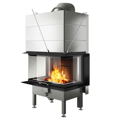 Rais Visio 3 Built-In Wood Fire - Three Sided