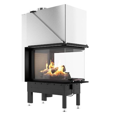 Rais Visio 3:1 Room Divider Wood Built-In Fire - Three Sided
