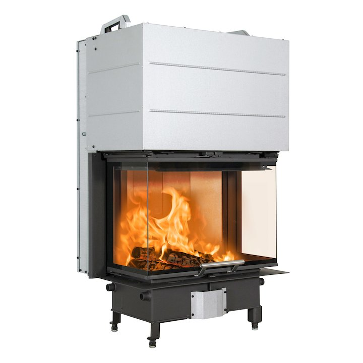 Scan 5004 Built-In Wood Fire - Three Sided Black Finishing Frame - Black