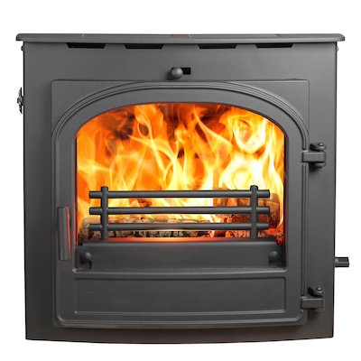 Hunter Telford 20B Multifuel Inset Boiler Stove Black Single Door