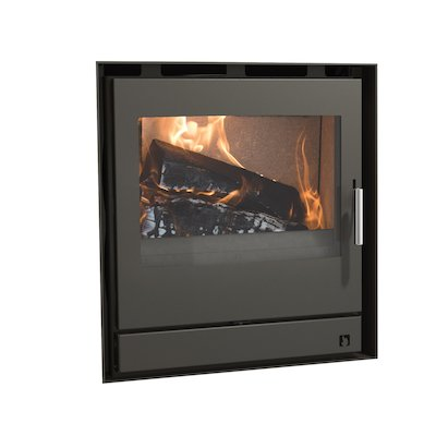Arada Ecoboiler 12 HE Multifuel Cassette Boiler Fire - Frontal Midnight Black Frameless/Edge