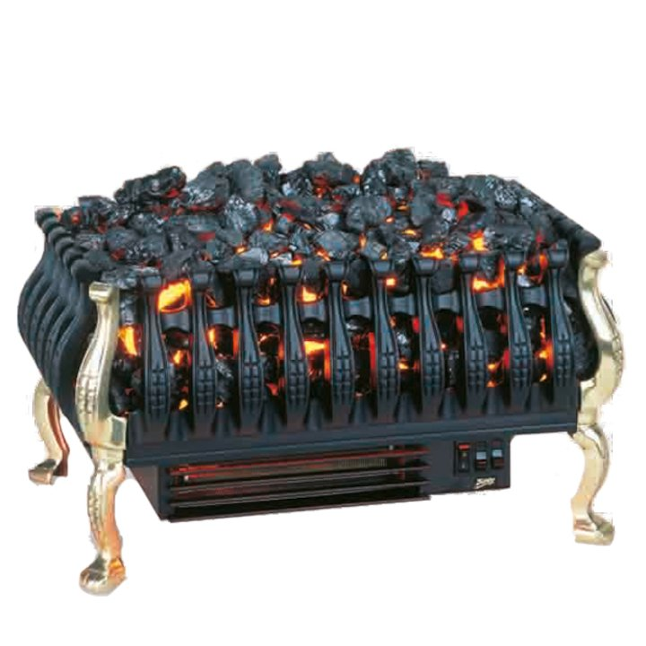 Burley Cottesmore Electric Firebasket Brass No Back - Brass