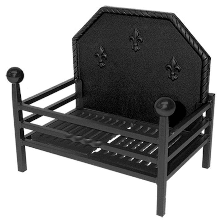 Calfire Popular Standard Solid Fuel Firebasket Black Ball Finials - Black