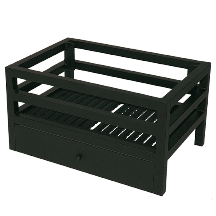 Calfire Modula Mini Solid Fuel Firebasket Black No Back - Black
