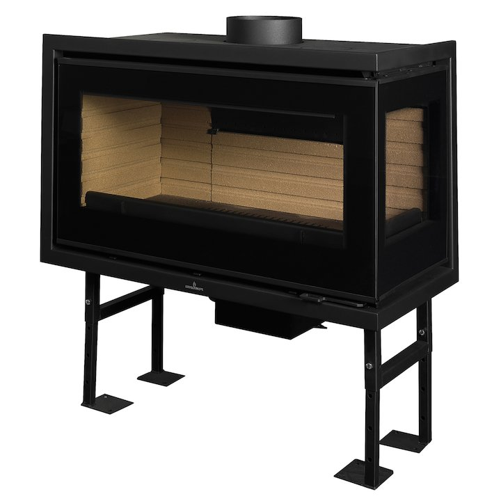 Bronpi Panama Cassette Wood Fire - Corner - Black